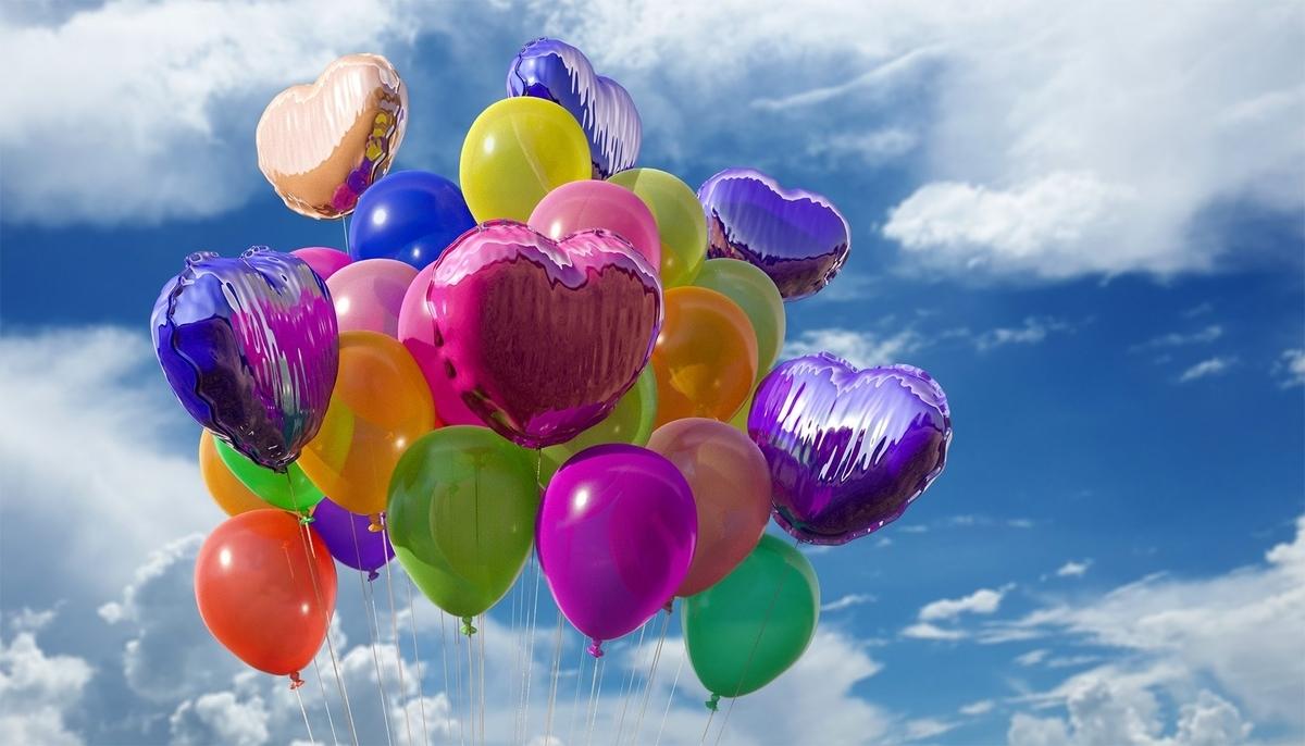 祝いの風船