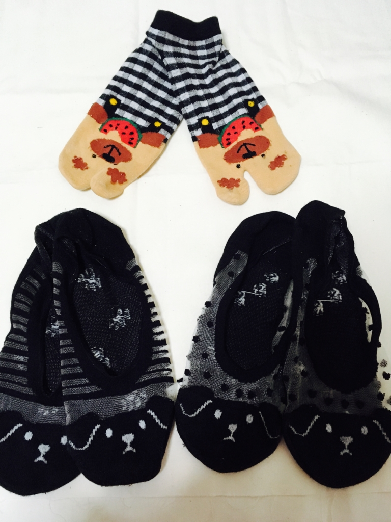 母から貰った靴下
