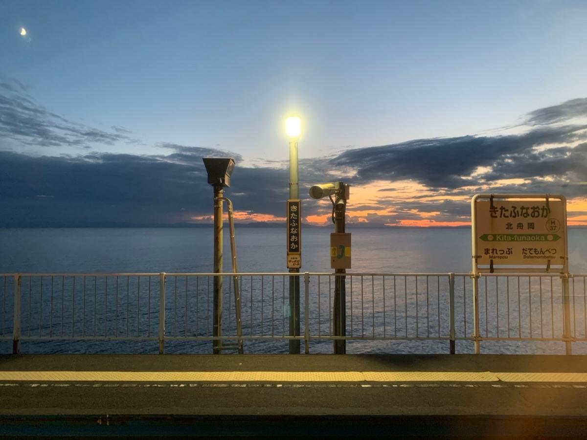 室蘭本線 夕日