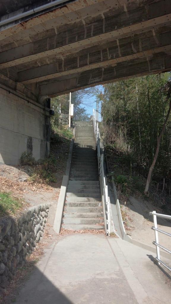 旧秩父橋下の階段