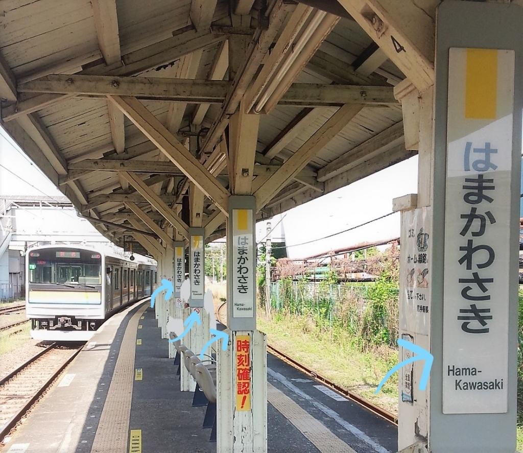 浜川崎駅鶴見線ホーム