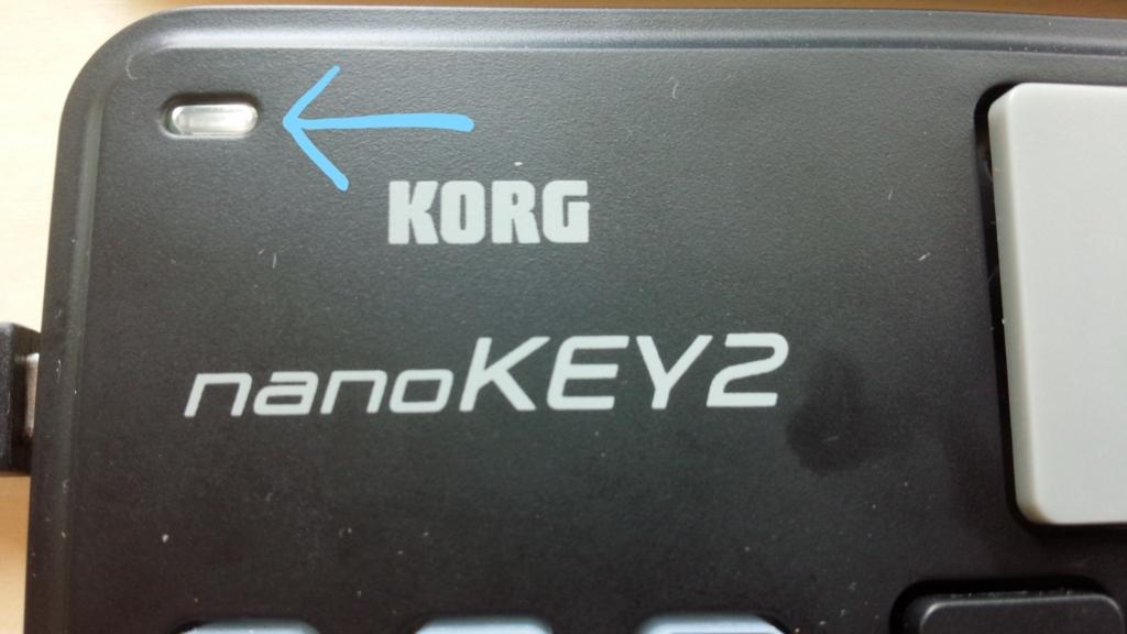 KORG nanoKEY2 電源ランプ