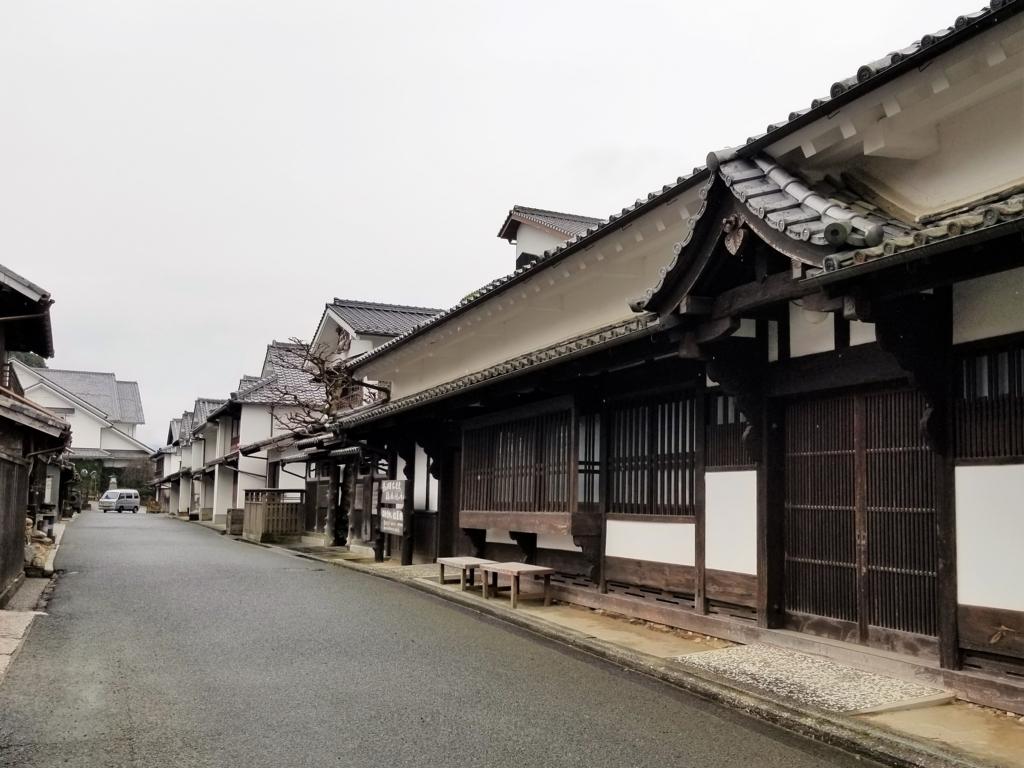 卯之町の伝統的街並み