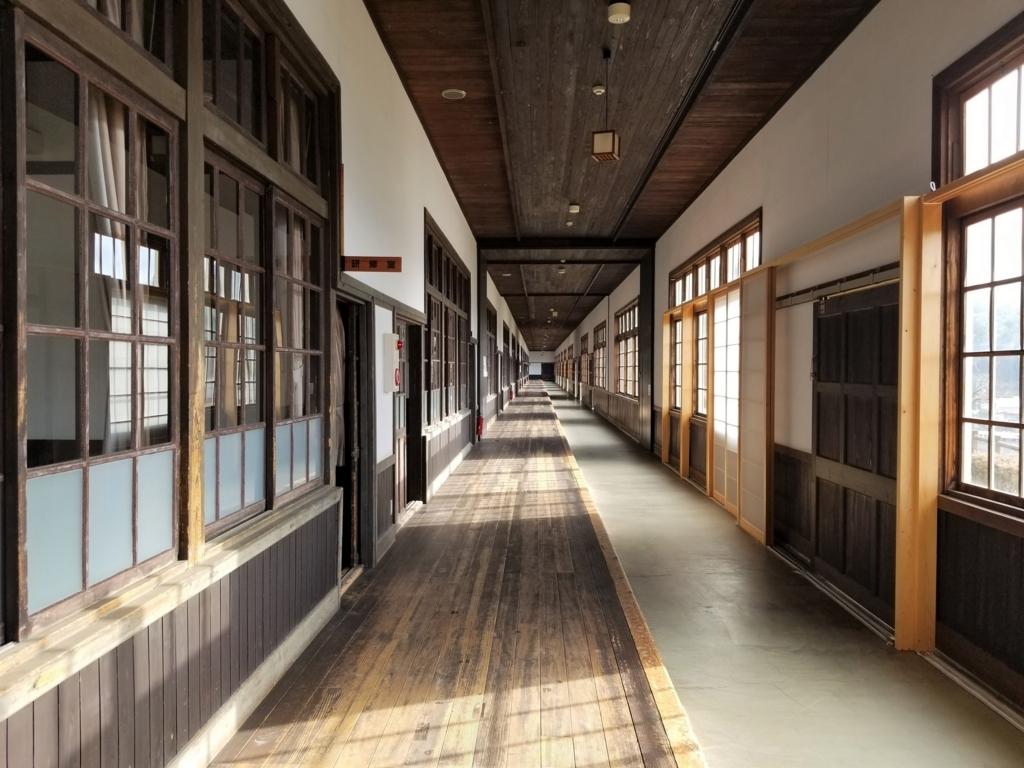 米博物館の廊下