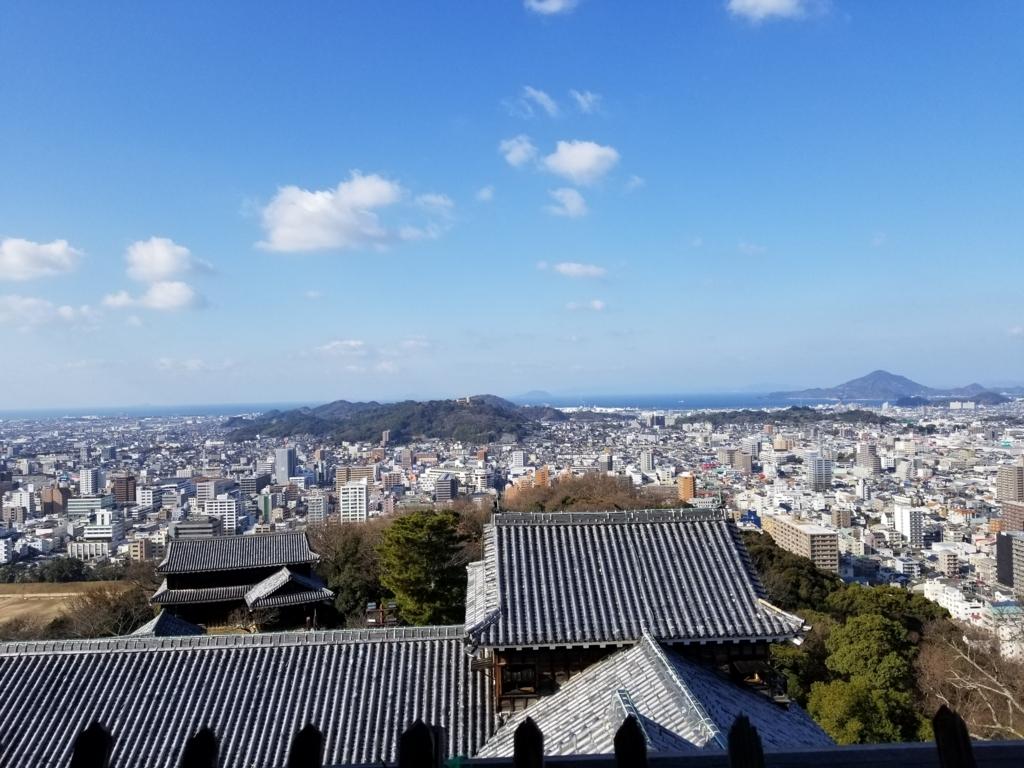 松山城天守閣からの眺望