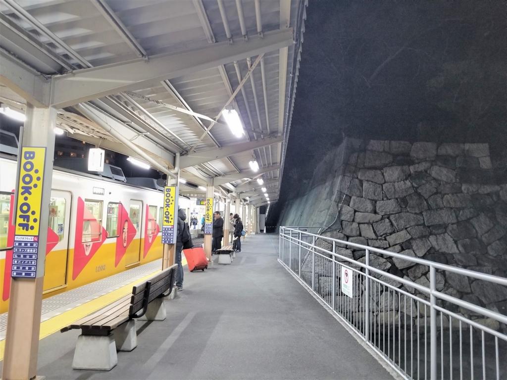 高松築港駅の石垣