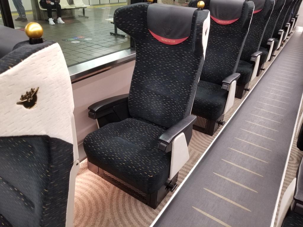 京阪プレミアムカー座席