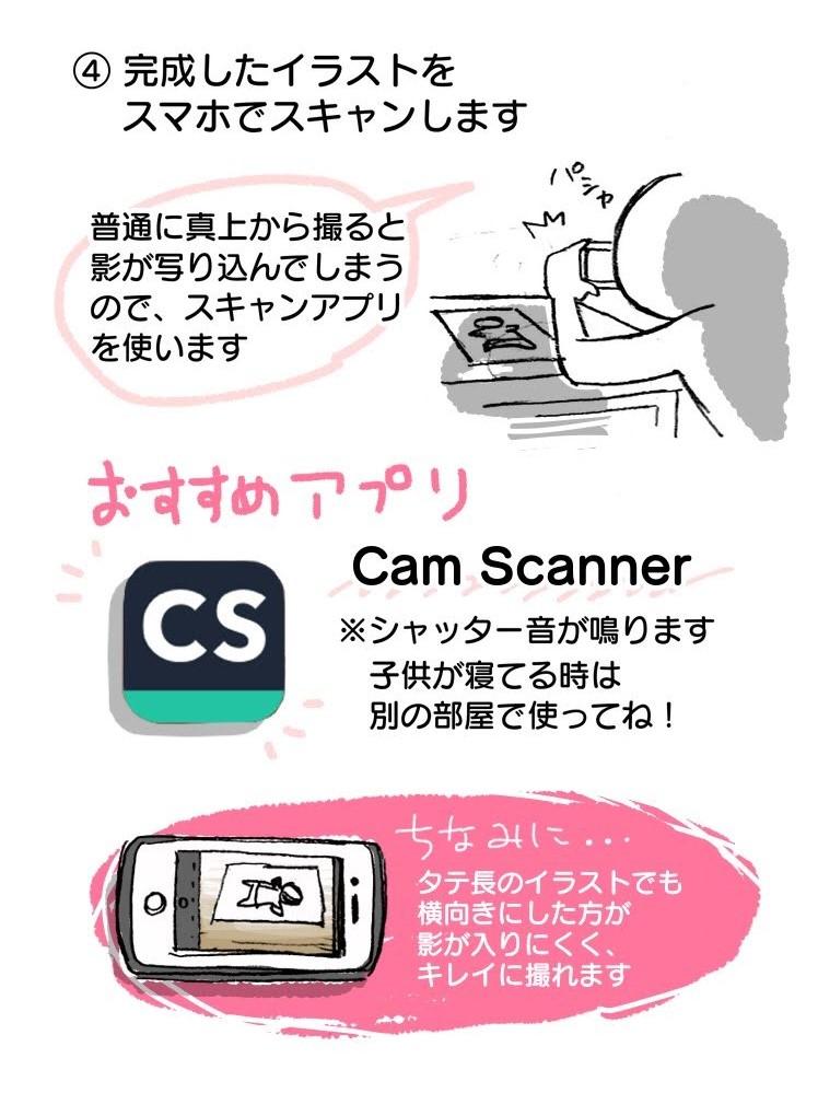 メイキング スマホ イラスト お絵描き 手描き アナログ スキャン スキャナー アプリ 不要