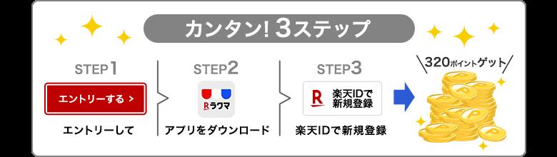 カンタン!3ステップ