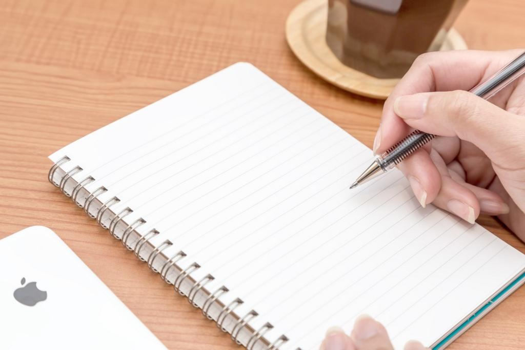 書き出しでから消して記憶力アップ