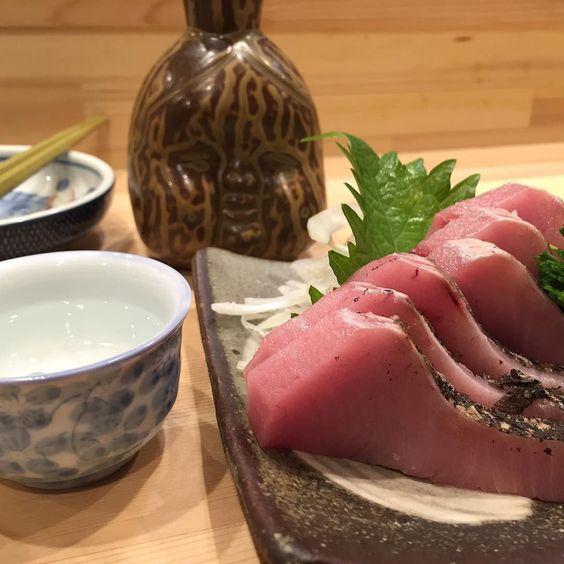 お刺身と日本酒で美白