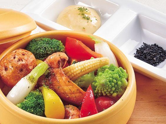 蒸し野菜をたくさん食べよう
