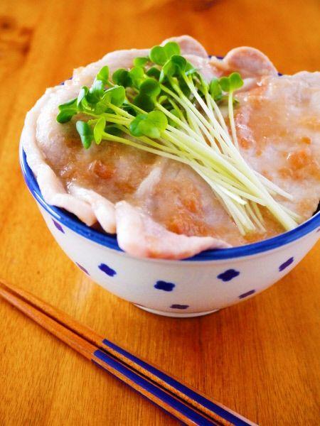 梅だれ豚丼の時短アレンジレシピ