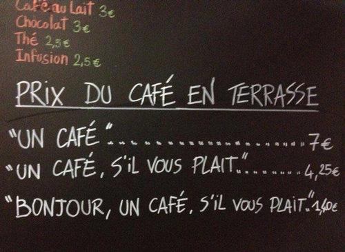 注文の仕方でコーヒーの値段が変わるカフェ