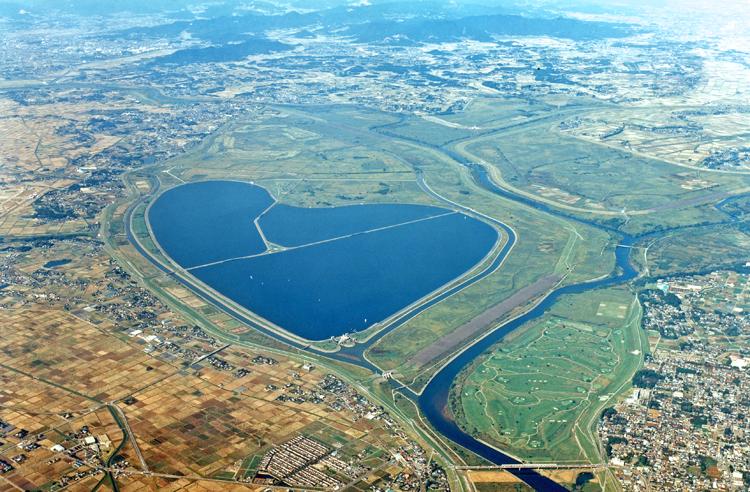 栃木県の渡良瀬遊水地はおすすめのハート型観光スポット