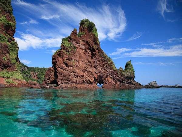 島根県のハート型観光スポット 明屋海岸