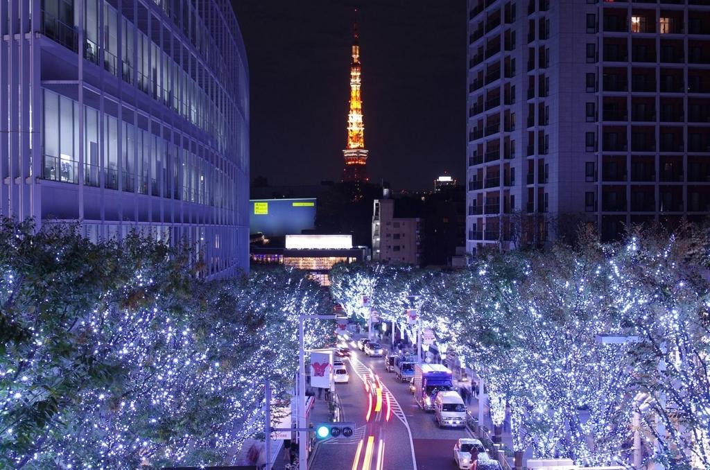 六本木ヒルズけやき坂は東京のおすすめイルミネーションスポット