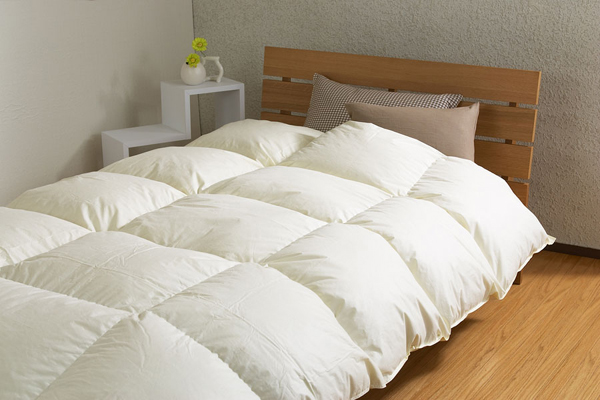 寒い季節にあたたかく眠るために羽毛布団の空気を入れ替える
