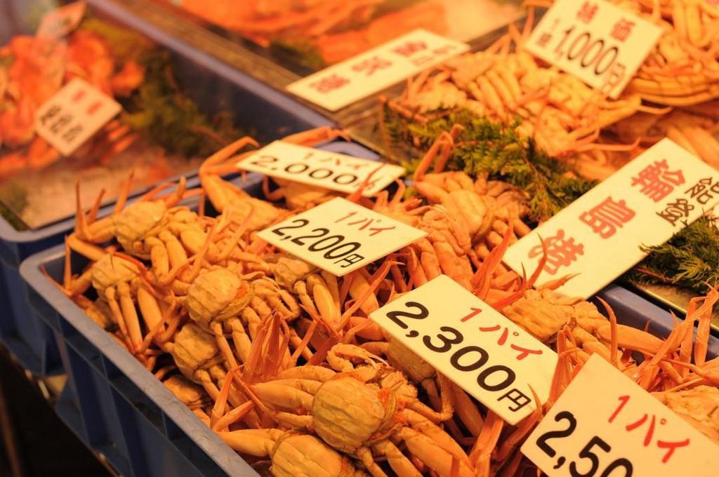 金沢の近江町市場は冬の旅行におすすめ