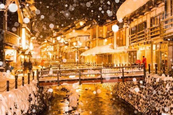 冬の旅行は旅行は山形県の銀山温泉がおすすめ