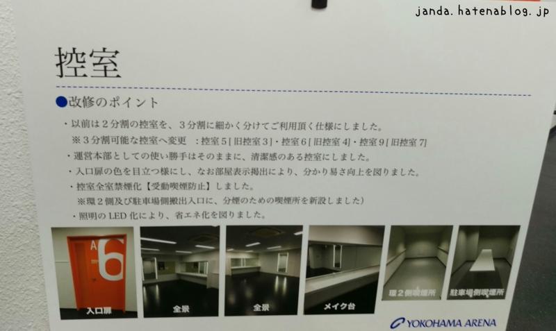 横浜アリーナ控室改修ポイント