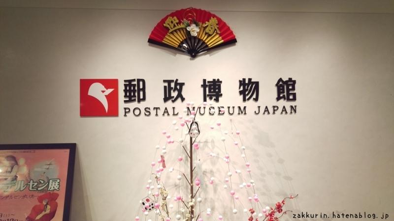 郵政博物館入口ロゴ