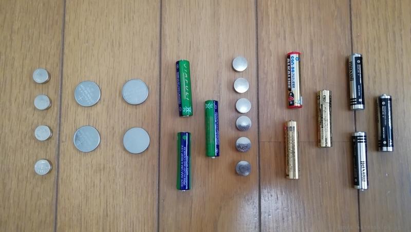 ペンライト乾電池ボタン電池