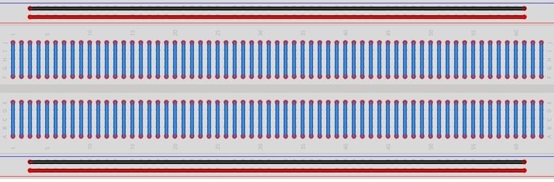 ブレッドボード 内部結線図