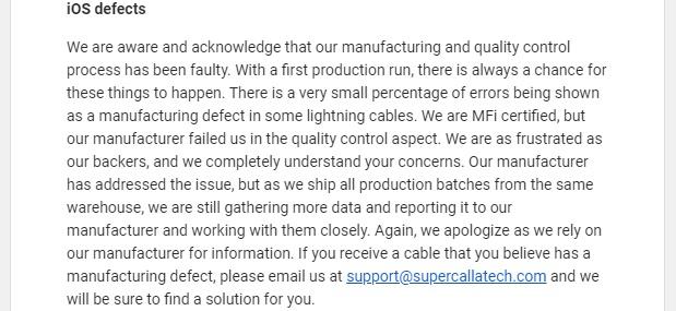 SuperCalla iOS defects
