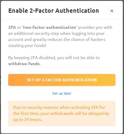 NiceHash 2ファクタ認証 2-Factor Authentication やり方 方法