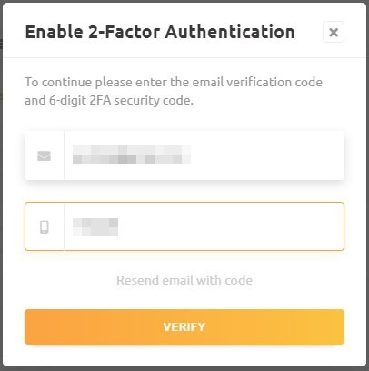 NiceHash Enable 2-Factor Authentication
