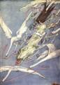 [art]ハリー・クラーク「妖精話の中の羊飼いと煙突掃除 Fairy Tales:The Wild S