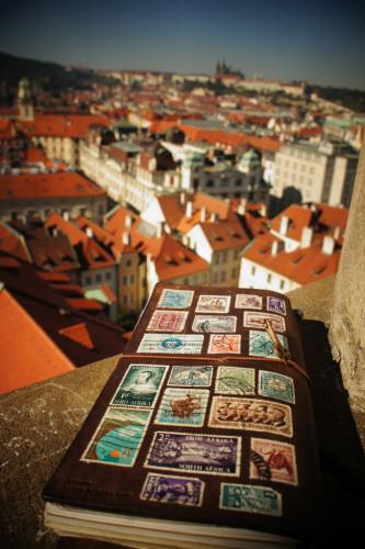 Traveler's note at Prague