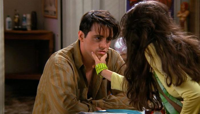 『フレンズ』で、不機嫌なジョーイをからかうジャニス