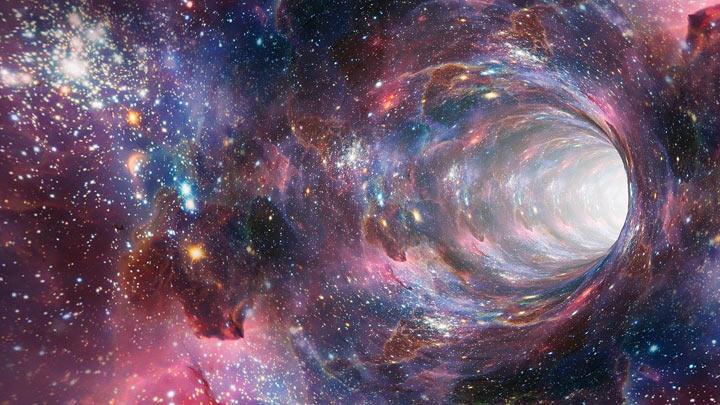 宇宙空間のワームホール