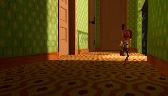 『トイ・ストーリー』で、ウッディがいじめっ子の家から逃げる