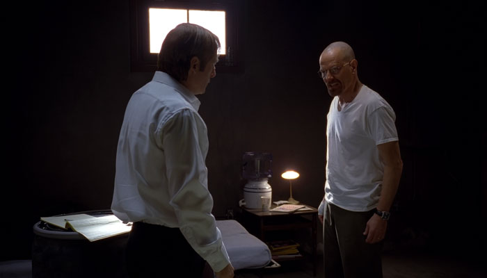 『ブレイキング・バッド』で、ウォルターは弁護士ソウルに逃亡生活をすることを拒否する