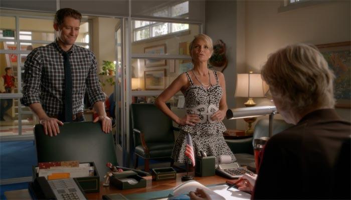 『glee/グリー』で、スーに法律議論を吹っかけるエイプリル
