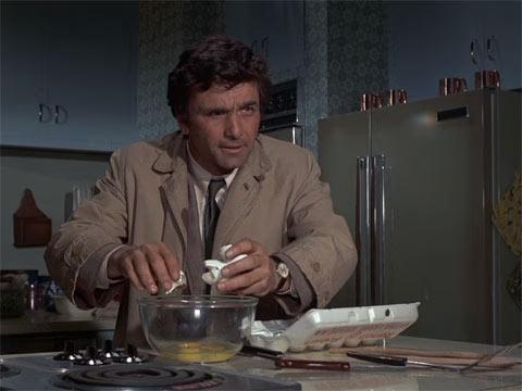 『刑事コロンボ』で、コロンボがオムレツを作る