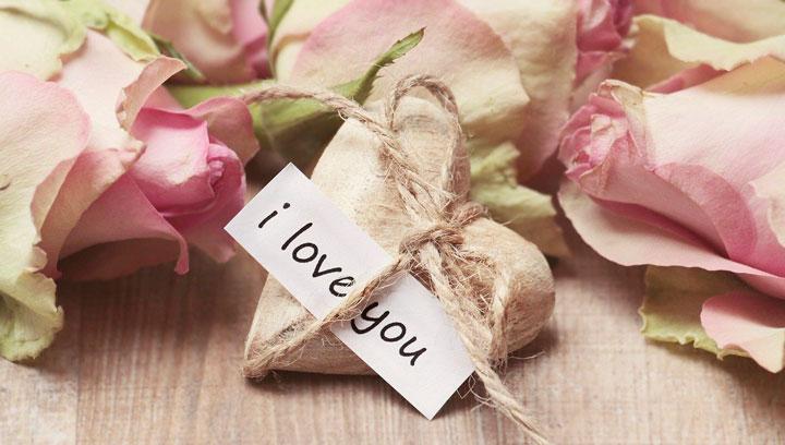 ハート型のプレゼントにI love you