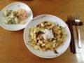 鮭のチャンチャン焼き風パスタ、ポテサラ&コールスロー