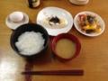 卵かけご飯定食(男前豆腐、焼きパプリカ、セロリ味噌汁)