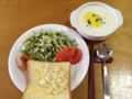 卵サンド、大葉ドレサラダ、ビシソワーズ