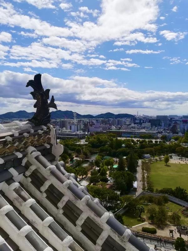 姫路城から見える景色。