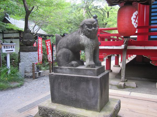 井の頭弁財天の左の狛犬