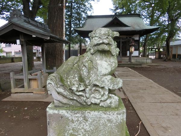 井口八幡神社の左の狛犬
