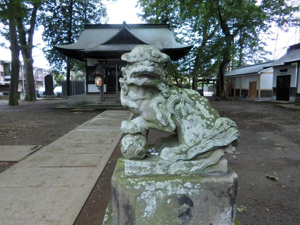 井口八幡神社の右の狛犬