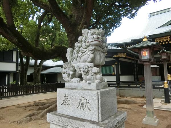 穴八幡宮の左の狛犬