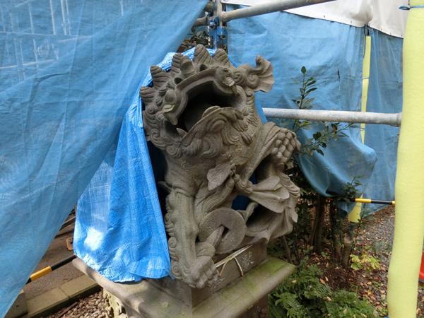 児玉神社の右の狛犬