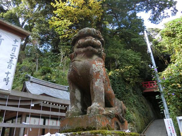 江島神社辺津宮の右の狛犬
